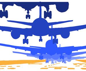 着陸する旅客機のGIFアニメページのサムネイル animated gif Airliner touch down