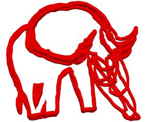 水を飲む象のGIFアニメページのサムネイル animated gif elephant which drinks water
