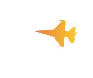 旋回する戦闘機のGIFアニメページのサムネイル animated gif fighter is turning