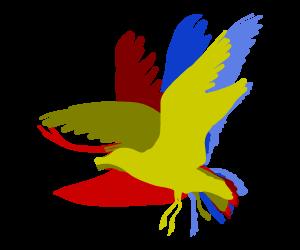 羽ばたくカモメのGIFアニメサムネイル animated gif gull flapping