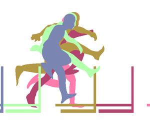 ハードルを跳ぶ人のGIFアニメページのサムネイル animated gif jump leap over hurdles