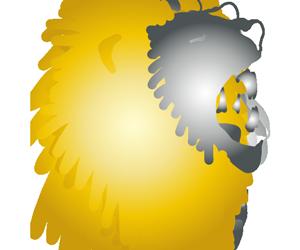 吠えるライオンのGIFアニメページのサムネイル animated gif lion roar