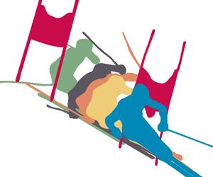 スキー スラローム右ターンのGIFアニメページのサムネイル animated gif ski slalom