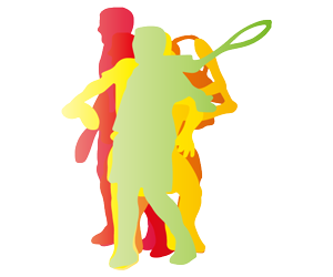 テニス バックハンドのGIFアニメページのサムネイル animated gif tennis backhand stroke