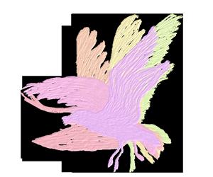 羽ばたくカモメ -油彩- のGIFアニメサムネイル animated gif gull flapping